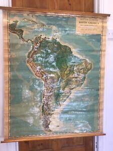 Vintage 1958 South America School Philip Series Teaching School Map England
