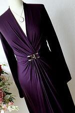 SEVENTY Italy reizendes Jersey-Kleid Drapierung Pflaume It.44- 40 NEUWERTIG