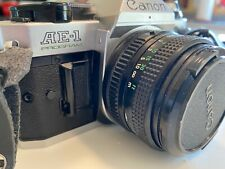 Canon AE-1 Program Camera with 50mm f1.8 Lens new battery
