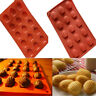 15 Cavity Mini Madeleine Shell Cake Pan Silicone Mold Cookies Baking Mould Tool