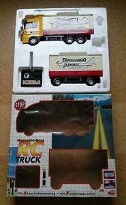 Vintage Dickie Toys Mercedes-Benz RC Truck / LKW mit Anhänger R/C