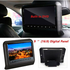 "9"" Car Digital Monitor Video Headrest DVD Player Game USB FM IR SD Wireless"