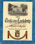 ST ESTEPHE GC BOURGEOIS ETIQUETTE CHATEAU CANTELOUP 1962 RARE §16/07§