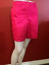 KIM ROGERS Women's Relaxed Fit Pink Walking Shorts - Size 10 - NWT