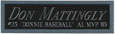 DON MATTINGLY NEW YORK YANKEES NAMEPLATE FOR AUTOGRAPHED SIGNED BASEBALL JERSEY