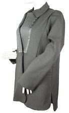 GIORGIO ARMANI BLACK LABEL Gray Jacket Coat w/ Embroidered Detail IT 40/US S-M