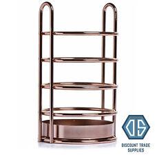 Rose Gold Kitchen Utensil Holder Wire Copper Effect Cutlery Storage Kitchenware