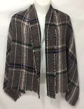 J.CREW $75 Cape scarf in glen plaid houndstooth Black Ivory BLOGGER/'S FAVORITE