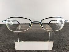 d8067c716ee Ted Baker Eyeglasses 48-20-135 Blue Metal Frame Half Rimless B384