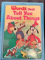 Walt Disney Words That Tell You About Things Hardback 1st Edition 1976 Rare Vtg