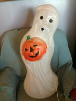 "VINTAGE HALLOWEEN GENERAL FOAM 33"" LIGHT UP GHOST BLOW MOLD W/LIGHT CORD #3"