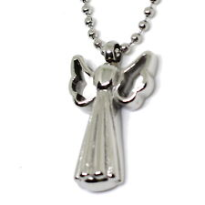 """""""Angel Wings Cross"""" Cremation Urn Necklace Stainless Ash Holder Pendant Jewelry"""