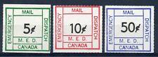 Weeda Canada M1-M3 VF MNH set of 3, 1977 Metro Emergency Mail Postal Strike CV$9