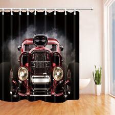 Steam Engine Old Car Waterproof Fabric Home Decor Bathroom Shower Curtain 71Inch