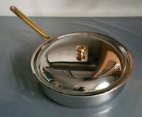 Sauteuse Sautoir SPRING Goldstar GL 26cm Pfanne Deckel Edelstahl, Gold Griffe