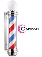 "Classic Barber Shop 34. 5"" Rotating LED Stripes Pole Light Hair Salon Sign"