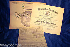 KOREAN WAR HONORABLE DISCHARGE CERTIFICATE ORIGINAL ENVELOPE & DOG TAG T50 51