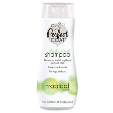 Perfect Coat SHED CONTROL SHAMPOO TROPICAL SCENT Dogs Cats Nourishes Strengthens