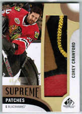 17/18 SP GAME USED COREY CRAWFORD SUPREME PATCHES PATCH /15 CHICAGO BLACKHAWKS