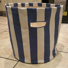 The Little White Company Blue And White Stripe Childrens Toy Storage Laundry