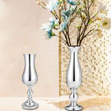 52cm Silver Floor Standing Metal Wedding Flower Vase/Urn Table Centrepiece decor