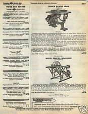 1935 PAPER AD Tobrin Challenge Power Wood Saw Sawing Machine Tilting Table