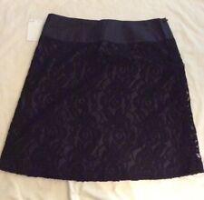Moulinette Soeurs Black A-Line Skirt, Size 8