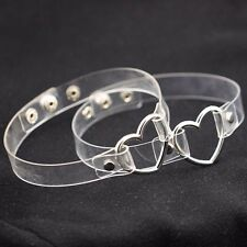 Clear Punk Gothic heart choker Harness Cage ring Gothic,,