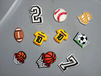 Sports Lot Of 10 Shoe, Bracelet, Lace Adapter Charms,basketballs, Jerseys & More