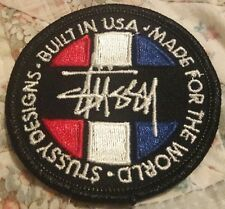 """2"""" STUSSY BUILT IN USA LOGO RARE Embroidered Iron On/Sew On Patch USA SELLER"""