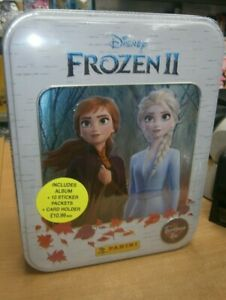 Panini Disney Frozen II 2 Treasure Tin: Album, 10 Packets stickers & Card Holder