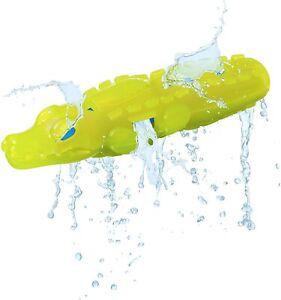 "Nerf Dog Water Super Soaker Dog Toy Interactive Squeaker Crocodile Gator 9"""