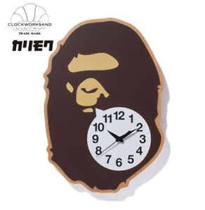 A BATHNIG APE BAPE HOME x CLOCKWORKSAND x KARIMOKU APE HEAD WALL CLOCK New