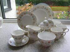 "Pretty Vintage 21 Piece Tea Set in ""Evelyn"" Design by Duchess."