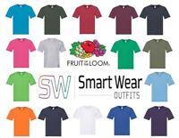 Fruit Of The Loom 100% Cotton Mens  V-Neck T-Shirt  3 Pack