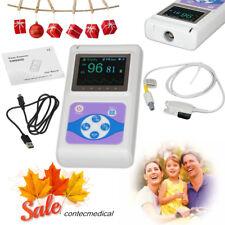 24H Finger Pulse Oximeter Blood Oxygen SpO2 Heart Rate Monitor+ USB PC Software
