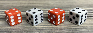 Parker Brothers Risk Game 1998 Red White 4 Dice Die Replacement Parts Piece