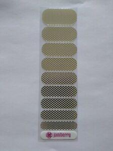 Jamberry Metallic Half Sheet Gold Fishnet on Clear