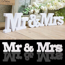 WEDDING | WHITE Letters | Wooden MR and MRS Letters | MR & MRS Sign