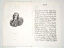 Carl von Linné 1707-1778 Rashult Naturaliste suédois Botanique Zoologie Médecine
