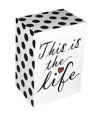 """""""THIS IS THE LIFE"""" - INSPIRATIONAL WOODEN BLOCK SIGN - FREE STANDING - GIFT"""