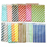 Small Paper Gift Bags x 24 Striped For Loot Candy Buffet Wedding Party Favours