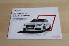 140268) Audi A3 A4 A5 A6 A7 Q3 Q5 TT - S-Line Selection - Prospekt 10/2013