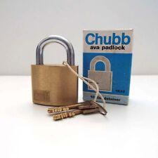 ORIGINAL CHUBB AVA PADLOCK 1K42  (New without box)