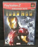 Iron Man Marvel IRONMAN -  PS2 Playstation 2 COMPLETE Game 1 Owner Mint Disc