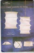 Vogue Sewing Patterns for Living  7187, Hanging Lamps x 5, Uncut