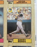 1987 Topps Baseball Complete Set UNCUT SHEETS With Bonds Error RC McGwire RC 10
