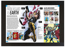 A3 Póster enmarcado Marvel Thor Historia