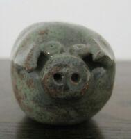 Studio Pottery Pig Figurine Earthenware Animal Ornament