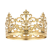 BESTONZON 1PC Tiara Crown Gold Delicate Cake Decoration Crown for Party Birthday
